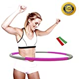 Cheap Liberry Hula Hoop for Adults,2-5 lbs Adjustable Weighted Hula Hoop,the Latest Popular Hula Hoop in 2018,3 Styles and 6 Colors Optional(gray)