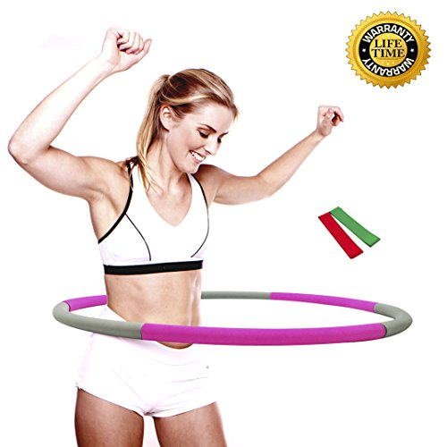 Liberry Hula Hoop for Adults,2-5 lbs Adjustable Weighted Hula Hoop,the Latest Popular Hula Hoop in 2018,3 Styles and 6 Colors Optional(gray)