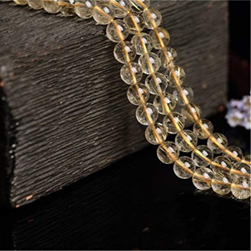 7.8-8.5mm Grade AA Natural Golden Rutilated Quartz Beads,Round Loose Beads for Jewelry Making (JFJ02) (7.8-8.5mm)