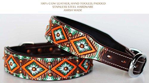 PRORIDER XSmall 9''- 13'' Rhinestone Dog Puppy Collar Crystal Cow Leather Western 6035OR