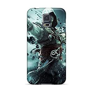 Durable Hard Cell-phone Case For Samsung Galaxy S5 (XYp15730DdlN) Provide Private Custom Realistic Assassins Creed Iv: Black Flag Image
