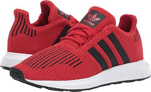 new styles 26836 81c30 adidas Originals Unisex Swift Running Shoe, Scarlet Black White, 6 M US Big  Kid