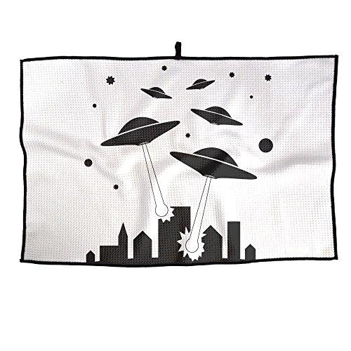 - Ruin Alien Flying Saucer Golf Towel Outdoor Activities Portable Towels For Mens Womens Sports Towel