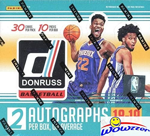 Hobby Box Legends - 2018/2019 Panini Donruss NBA Basketball MASSIVE Factory Sealed JUMBO HOBBY Box with TWO (2) AUTOGRAPHS & 300 Cards Look for Rookies & Autos of Deandre Ayton, Luka Doncic, Trae Young & More! WOWZZER!