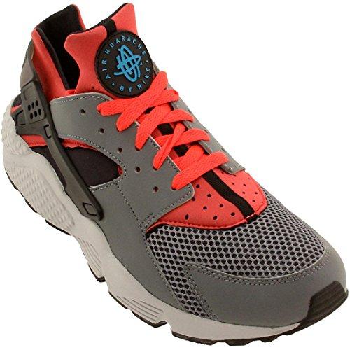 Nike Herren Air Huarache Cool Grey Bright Crimson Schwarz Blau Legion 009