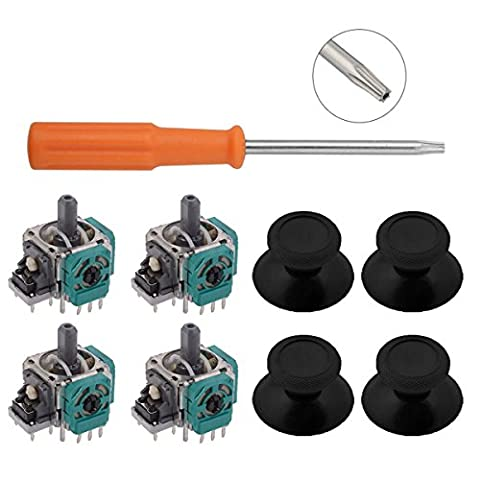 4 Pcs 3D Controller Joystick Axis Analog Sensor Module & Thumbstick for Xbox One with Install Open Shell Tool Torx T8H T6 - Sensor Controller