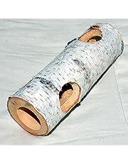Pinokio Zabawka dla gryzoni z drewna, pusty pień drzewa 200 x 70 mm z 6 otworami do wsuwania karmy 35 mm