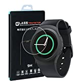 Samsung Gear S2 Classic Smart Watch Screen Protector(2 PACK), Qosea Ultra-thin 2.5D 9H Hardness Crystal Clear Scratch Resistant Tempered Glass Screen Protector for Samsung Gear S2 Classic Smart Watch