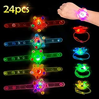 Satkago 24 Pcs Light Up Bracelets Birthday Party Favors Glow in The Dark Supplies Toys