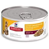 Hill'S Science Diet Adult Wet Cat Food, Savory Chicken Entrée Minced Canned Cat Food, 5.5 Oz, 24 Pack