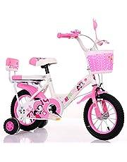دراجة سوبي للبنات مع عجلات تدريب عادية 12 انش, زهري