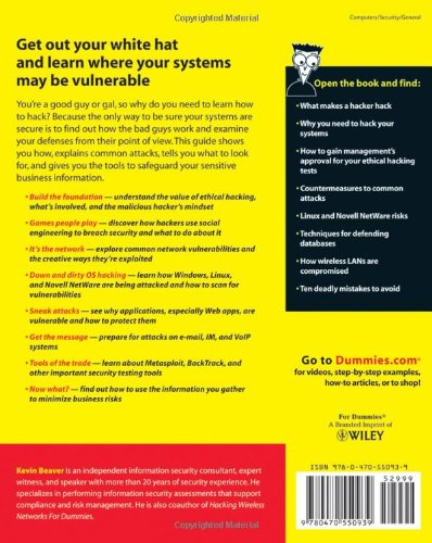 Hacking For Dummies Beaver Kevin 9780470550939 Amazon Com Books