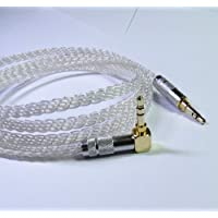 3ft (1meter) 8 Cores 4n Occ Silver Plated Handmade Stereo Headphone Audio Hifi Audiophile 3.5mm Male to Male Cable