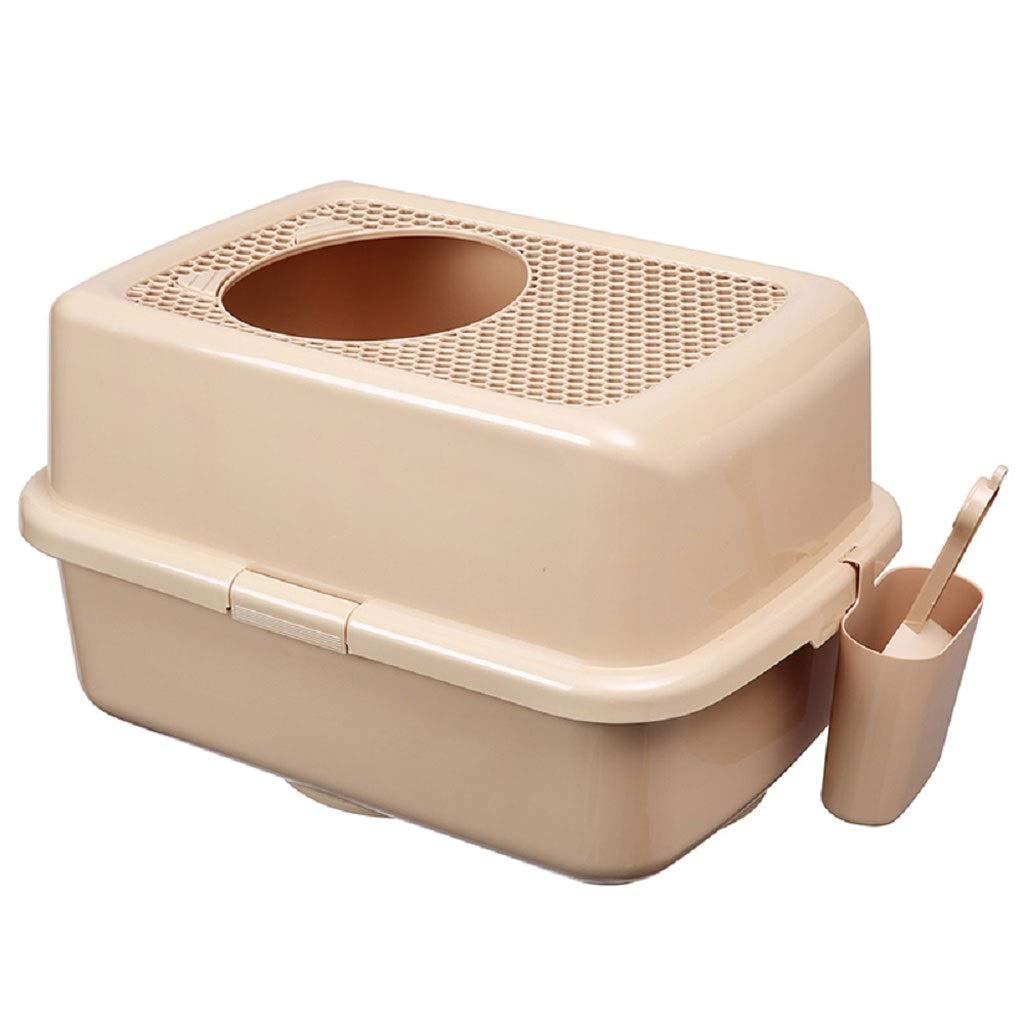 NYJ Contenitore per cucciolata con Cappuccio per Gatti - Progettato con Cura per comodità e funzionalità - Maniglia per Filtro e sportello Girevole integrati (colore   B)
