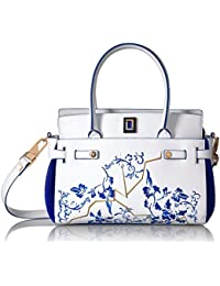 Women's Margherita Satchel Embroidered Leather Handbag