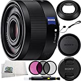 Sony Sonnar T FE 35mm f/2.8 ZA SEL35F28Z Lens Bundle Includes Manufacturer Accessories + 3PC Filter Kit + Lens Pen + Cap Keeper + Microfiber Cleaning Cloth