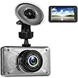 Supmovo 3.0 1080P Car Dash Cam, LCD Full HD H.264 170 Degree Wide Angle Dash Camera, Car DVR Sony 323 Lens, WDR, G-Sensor, Parking Monitor