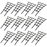 Firlar Climbing Plants Support,12-Pack DIY Garden Mini Climbing Trellis Flower Plants Support Grow Cage for Potted Plant Vine