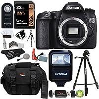 Canon EOS 70D 20.2 MP Digital SLR Camera with Dual Pixel CMOS AF Full HD 1080p Video (Body Only) + Lexar 32 GB SDHC + Polaroid 57