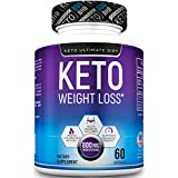 Keto Ultimate Diet - Real Keto BHB Ketones - Ketogenic Diet Weight Loss Supplement with Beta Hydroxybutyrate Ketone Salts 60Caps