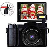 Digital Camera Vlog Camera Full HD 1080p 24.0MP Camcorder 3.0 Inch Flip Screen Camera Flash light