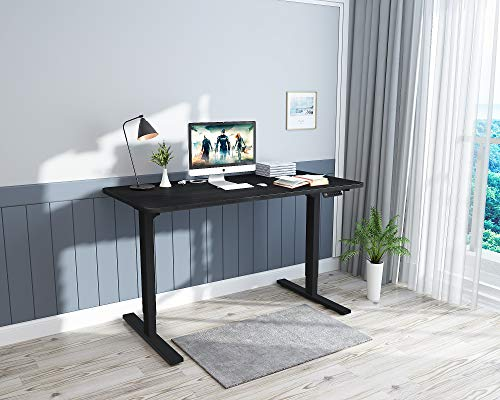 Standing Desk Adjustable Height Electric Computer Desk Home Office Desk 48 x 24 Inch Memory Controller Sit Stand Table Computer Workstations Black