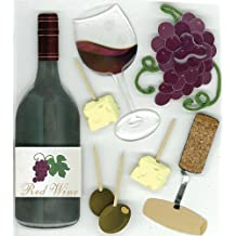 Jolees Boutique Wine Tasting Dimensional Stickers