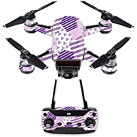 Skin for DJI Spark Mini Drone Combo - Purple Pentagon| MightySkins Protective, Durable, and Unique Vinyl Decal wrap cover | Easy To Apply, Remove, and Change Styles | Made in the USA