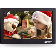 Advanced Digital Picture Photo Frame - HD 1024x768(4:3) IPS Widescreen Eletronic Picture Frame Advertising Player with Calendar/Clock/Remote Control Black 10-inch