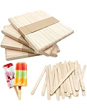 Natural Wooden Sticks for Popsicle, Food Grade Smooth Wooden Sticks, Ice Cream Candy Making, 4.5 inch Wood Craft Ice Cream Sticks for Craft Project…