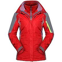 MAGCOMSEN Women's Outdoor 3-in-1 Waterproof Waterproof Skiing Snowboarding Jacket Fleece Warm Raincoat