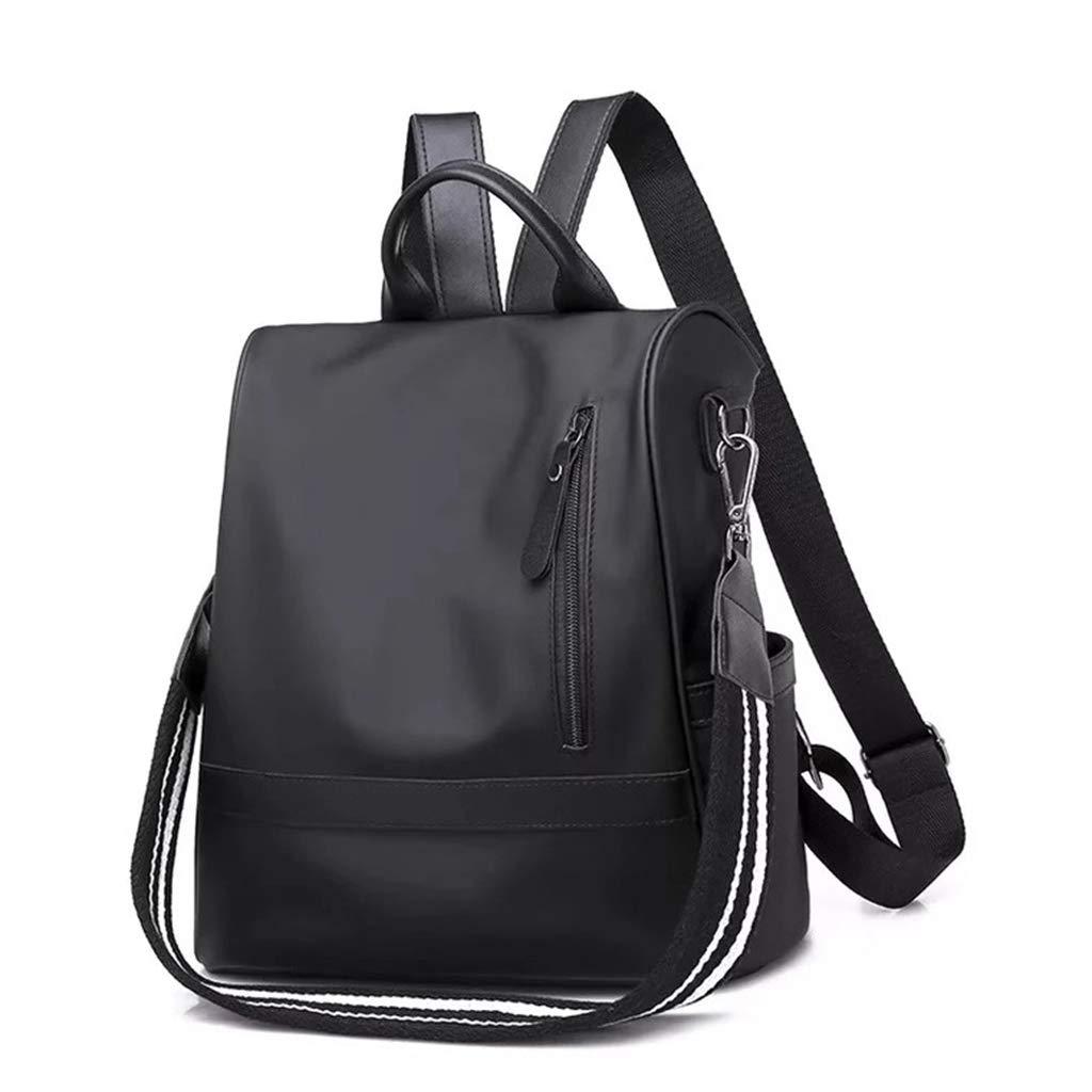 Black Women Backpack Ladies Rucksack Purse Antitheft Lightweight Shopping Travel Shoulder bag