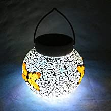 LLSai-Chic Globe LED Solar Powered Garden Light -Solar Table Light- Solar Small Night Light With Butterflies Pattern