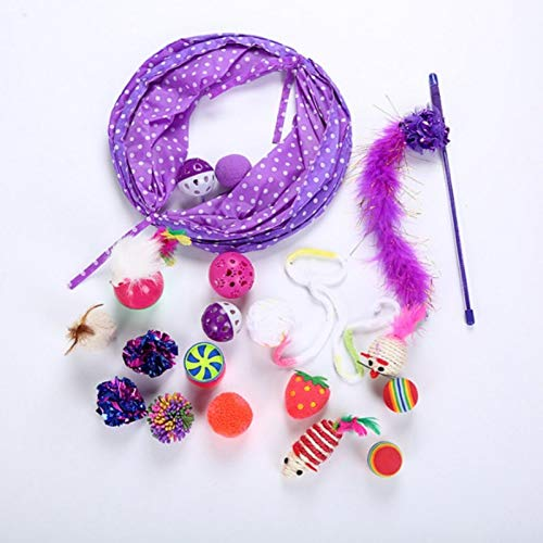 15 17 20pc Pet Toys Kit Pet Sisal (Catnip) Material Bell Feather Mice Shape Toy Kitten Interactive Play Supplies