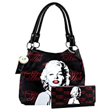 Marilyn Monroe Some Like It Hot Movie Signature Shoulder Bag and Wallet