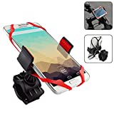 Bike Mounts, NOKEA Universal Cradle Clamp for  for iPhone 6 6(+) 6S 6S plus 5S 5C, Samsung Galaxy S5 S4 S3 Note 3 Note 4 Note 5,Nexus 5, HTC, LG, 360 Degrees Rotatable, Rubber Strap (Bike Mount #2)