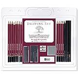 Studio Series 26-Piece Sketch & Drawing Pencil Set (Artist's Pencil and Charcoal Set)