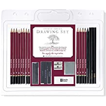 Studio Series 25-Piece Sketch & Drawing Pencil Set (Artist's Pencil and Charcoal Set)
