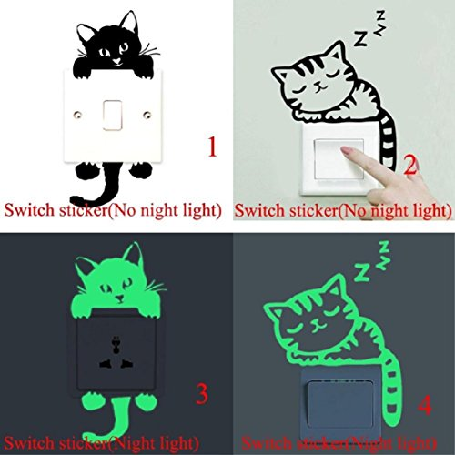 coromose cat wall stickers light switch decor decals art mural baby nursery room