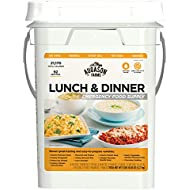 Augason Farms Lunch and Dinner Variety Pail Emergency Food Supply 4-Gallon Pail
