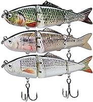 GOTOUR Fishing Lures, Lifelike Multi Jointed Swimbait, Slow Sinking Swimming Lure, Freshwater or Saltwater Har