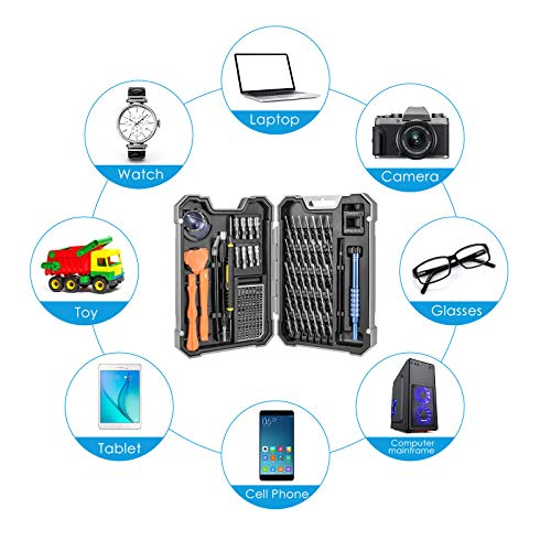 Kit Tournevis de Précision Magnétique 54 en 1, Tournevis Outils de Réparation Pour Portable, Ordinateur, Lunettes, Laptop, Appareil