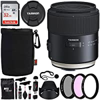 Tamron AFF013N-700 SP 45mm F/1.8 Di VC USD (model F013) For Nikon, Sandisk Ultra SDHC 32GB Memory Card, Polaroid 67mm Filter Kit, Ritz Gear Card Reader, Polaroid Lens Cap Keeper and Accessory Bundle