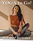Tumaz Yoga Mat Strap, 2-in-1 Adjustable Sling - Mat Carrier & Stretching Strap (15+ Colors, 2 Sizes Options) with Extra Thick, Durable and Comfy Delicate Texture [Mat NOT