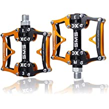 TRADE® 3 Bearing Road Mountain Bike Platform Pedals Flat...