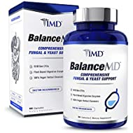 1MD BalanceMD - Candida Fungal & Yeast Support | 18 Billion CFUs Probiotics, Digestive Enzymes, Oregano, and Aloe Vera | 60 Capsules