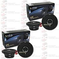 4 x Infinity Kappa 62.11i 6.5-inch 2-way car audio coaxial speakers 6-1/2