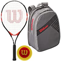 fan products of Wilson Roger Federer Boy's Pre-Strung Junior Black/Red Tennis Racquet with Starter Tennis Balls and a Junior Tennis Bag Bundle (Perfect for Kids Ages 5-10)