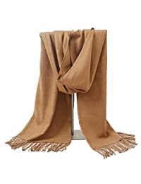 LERDU Ladies Cashmere Pashmina Scarf Wrap Shawl Winter Stole for Women Camel