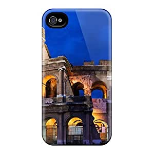 Durable Protector Case Cover With Colosseum In Rome Hot Design For Iphone 4/4s